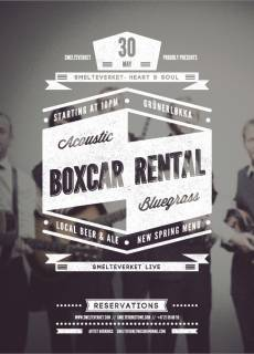 Smelteverket Live Presents: BOXCAR RENTAL!
